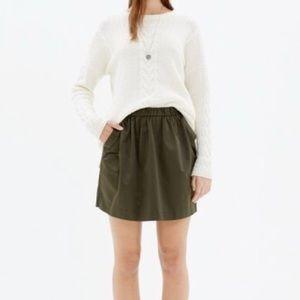 Madewell Satin Party Skirt - Tuscan Green